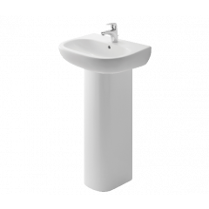 BRITEX 550 Ceramic Hand Basin with Full Pedestal