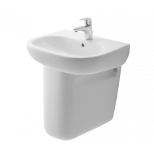 BRITEX 650 Ceramic Hand Basin with Semi Pedestal