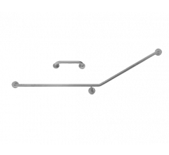 S.S. LHS 30˚ Flush Mount Side Wall & Cistern Grab Rail Set