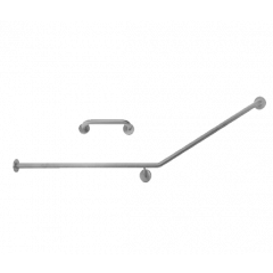 S.S. 30˚ Flush Mount Rear Wall & Cistern Grab Rail Set