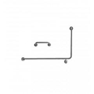 S.S. 90˚ Flush Mount Side Wall & Cistern Grab Rail Set