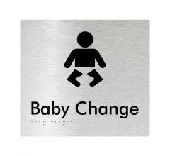 Baby Change Braille Signage