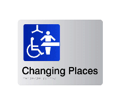 Changing Places Acrylic Silver Braille Sign