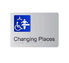 Changing Places Anodised Aluminium Braille Sign