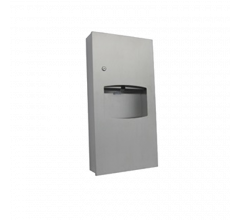 Recessed Paper Towel Dispenser & 6.5L Waste Receptacle