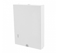 White Powder Coat Slimline Paper Towel Dispenser