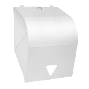 White Powder Coat Lockable Paper Towel Dispenser