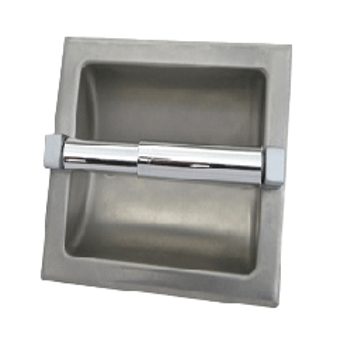 S.S. Recessed Single Toilet Tissue Dispenser - No Hood