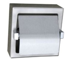 S.S. Surface Mount Toilet Tissue Hooded Dispenser