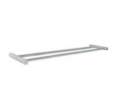 SS Double Towel Round Rail