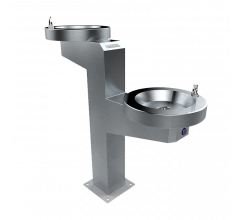 Accessible Drinking Fountain Twin Bowl