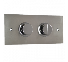 Pneumatic In Wall Cistern Raised Buttons Standard Plate 3/6L