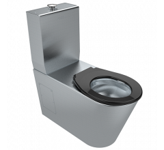 Britex Accessible Toilet Suite with Black Toilet Seat