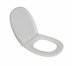 White Economy Toilet Seat with Lid