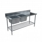 BenchTech Double Sink Benches - Left Hand Side