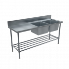 BenchTech Double Sink Benches - Right Hand Side