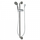 Adjustable Height Hand Held Shower Set with Grab Rail