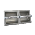 S.S. Recessed Double Roll Toilet Paper Dispenser - No Hood