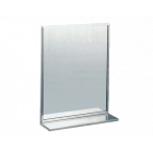 SS Channel Frame Mirror w Shelf (Accessible Compliant)