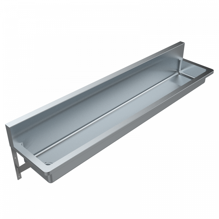 Miraculous Pwd Wall Mounted Stainless Steel Trough Britex Download Free Architecture Designs Scobabritishbridgeorg