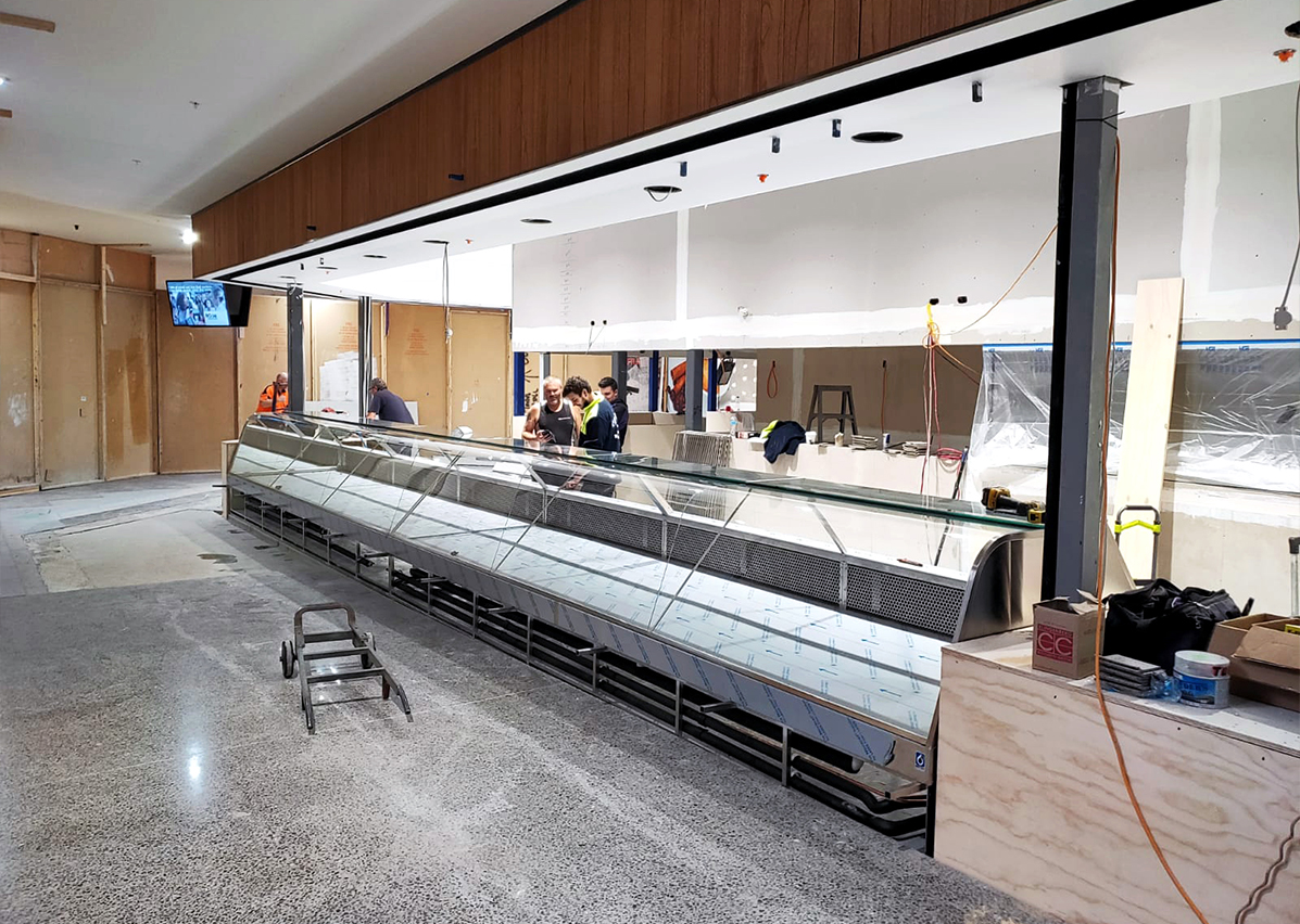 Stainless Steel Benches and Shelves - Rainbow Meats Croydon Central Installation