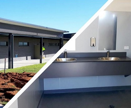 Durable fixtures for Merbein Sporting Clubrooms
