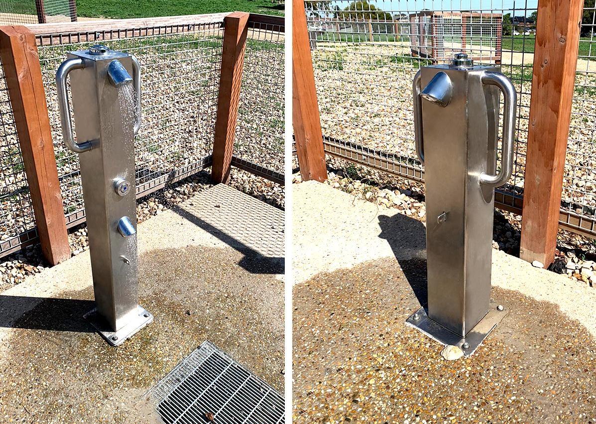 Britex vandal resistant Stainless Steel Dog Showers
