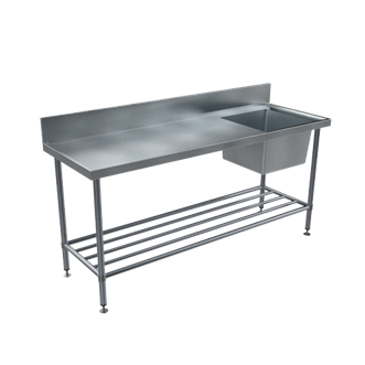 BENCHTECH 600 SERIES SINGLE SINK BENCH WITH R/H BOWL