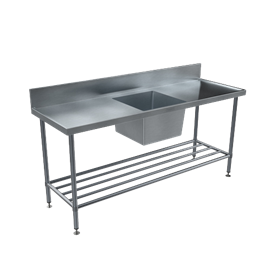 BENCHTECH 600 SERIES SINGLE SINK BENCH WITH CENTRE BOWL