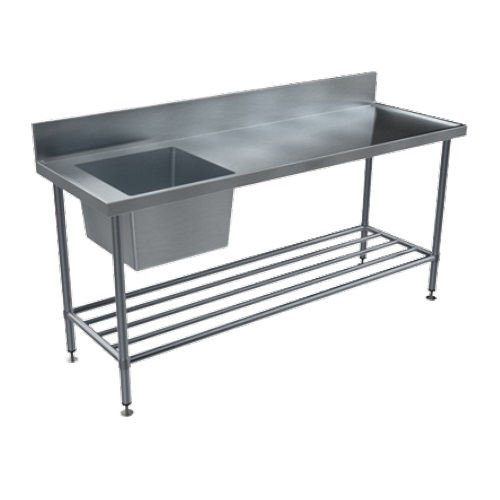 BenchTech Single Sink Benches - Left Hand Bowl