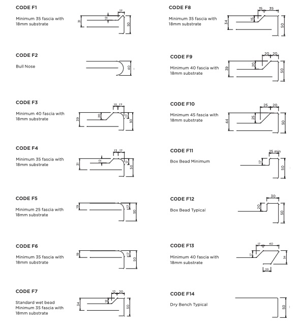 Choose the bench fascia style