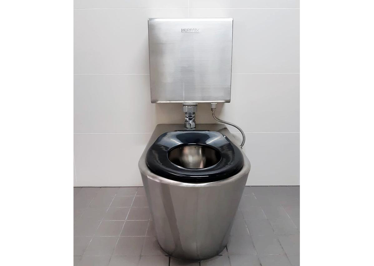 Britex S.S. Centurion Child Pan supplied with Navy Child Toilet Seat (PCC)