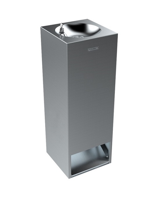 BRITEX Stainless Steel Foot Activated Square Drinking Fountain
