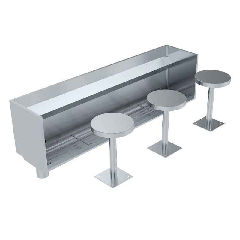 Britex Stainless Steel Wudu Foot Wash Trough (TWUDU)