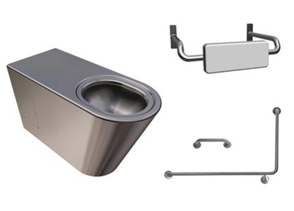 Disabled And Ambulant Stainless Steel Toilets
