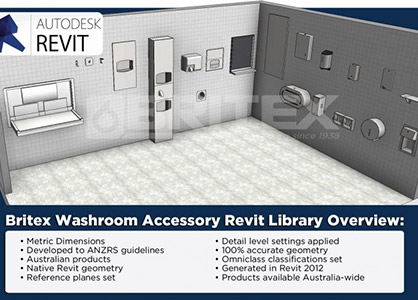Revit Families Updated For Britex Washroom Accessories